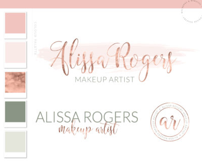 Soft Watercolor Logo, Premade Watercolor Logo, Pre-Made Watercolor Logo