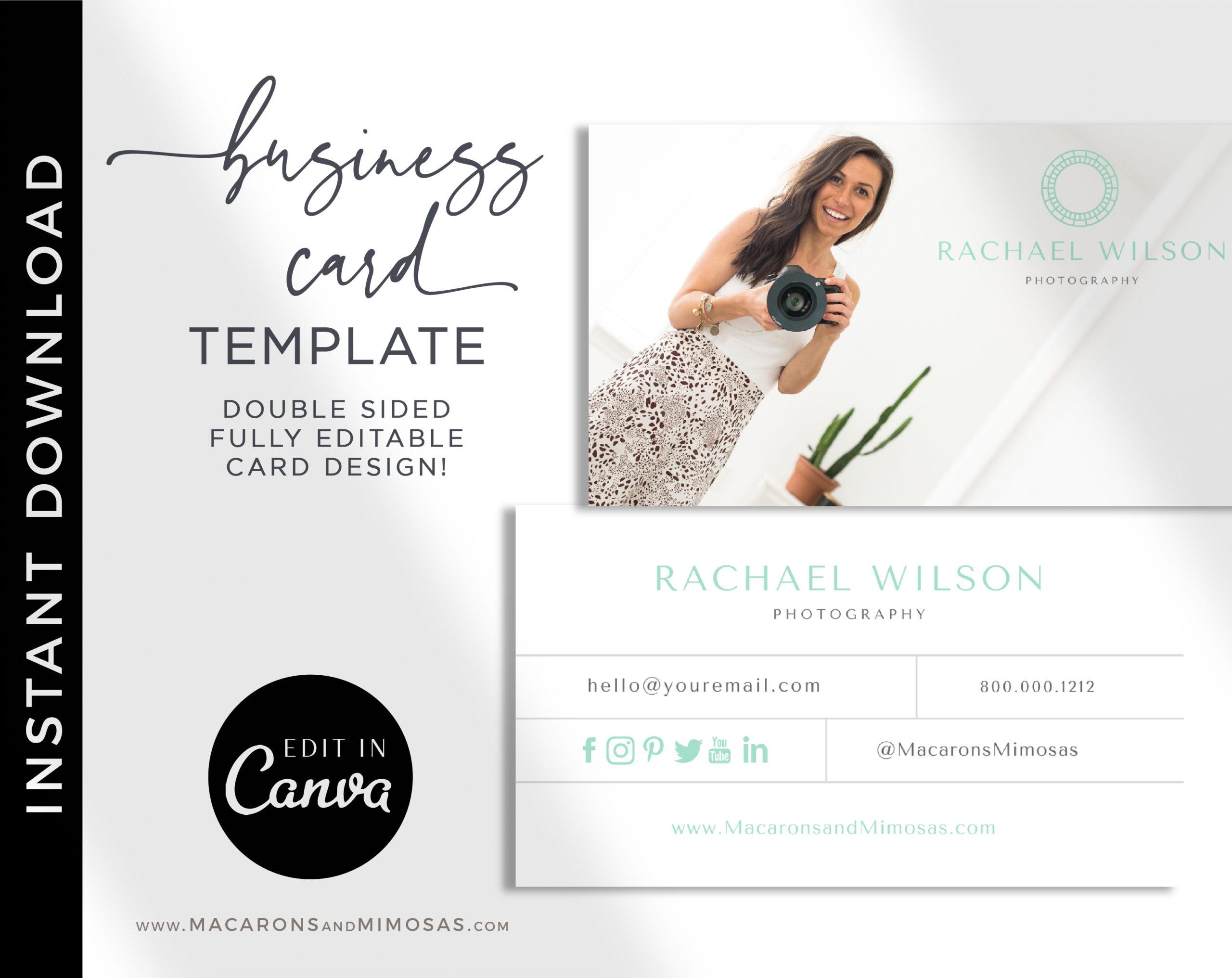 custom business card 200 business cards Premade Business Card Design Photography business card template Business Card Template