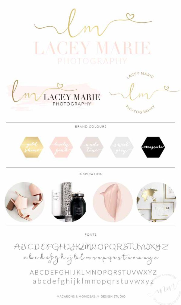 Photography Branding Board Pink Gold