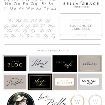 Minimalist Logo Design, Branding kit Logo Design, Custom Logo Design, Premade Branding Package, stamp, Photography Logo, watermark 086