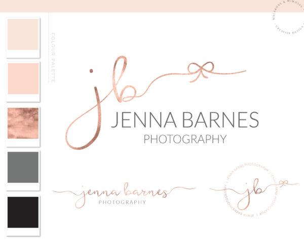 Watercolor Logo, Photography Logo, Logo Design, Logo, Premade Logo, Watermark Logo, Custom Logo, Business Card, Bow Logo 06