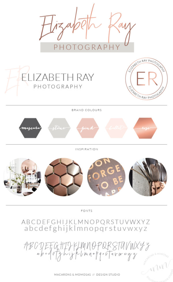Rose Gold Photography Calligraphy Logo Kit