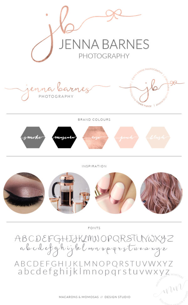 Rose Gold Photography Logo Marketing Package