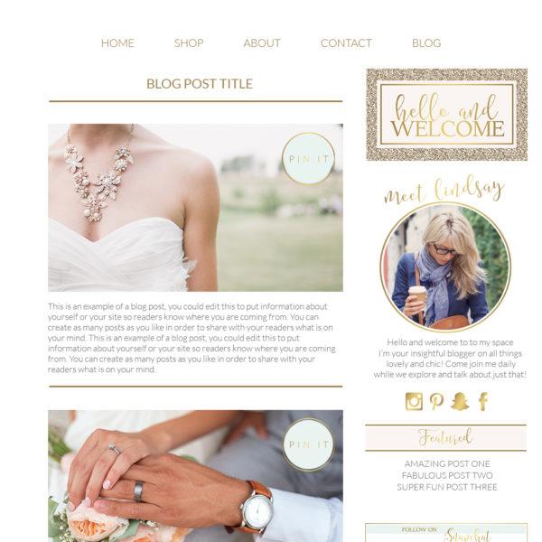 Blog Kit, website template kit, website builder kit, blog builder kit, blog pacakge, wedding photographer website package