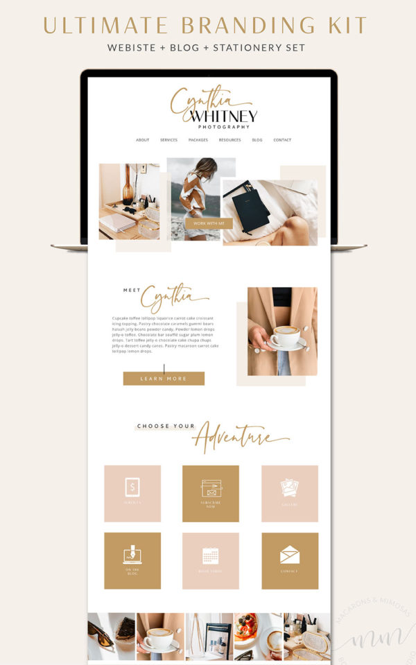 Feminine Wordpress Theme, Pink Website Design, Showit theme, Showit Template, Wordpress Design, Website Design