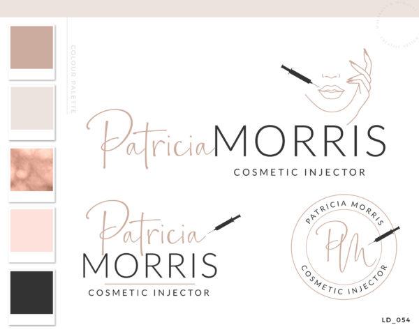 cosmetic injector logo, Plastic Surgery Logo Design, Aesthetic injectors logo Branding, Skincare Fillers Botox Logo, cosmetic clinic Logo