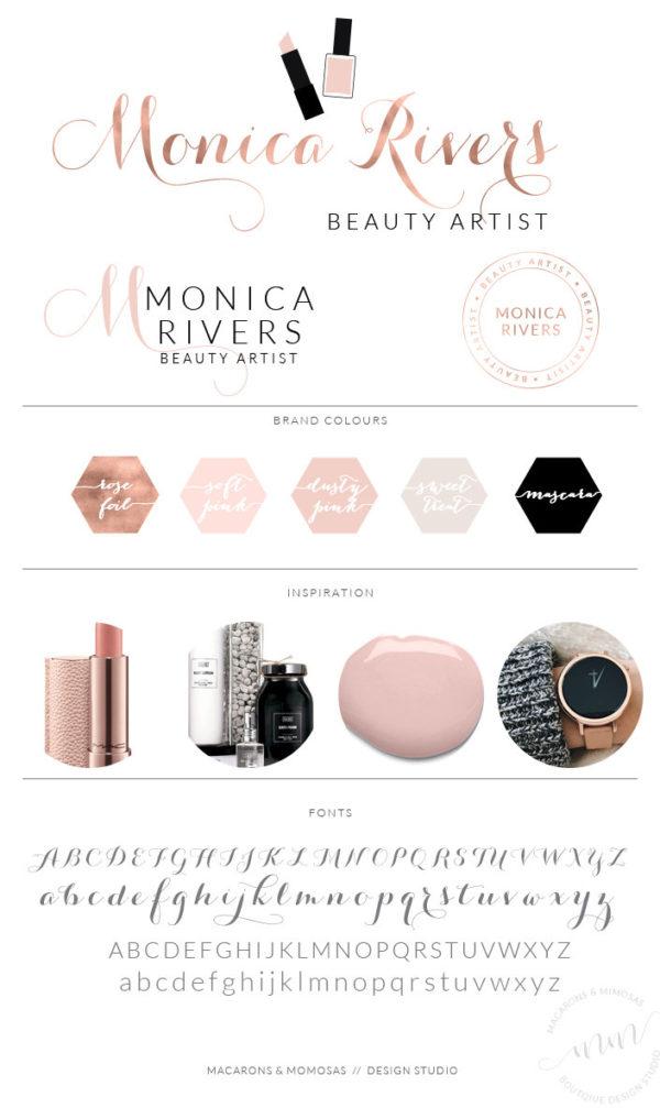 Monica Rivers Logo Set • Macarons and Mimosas