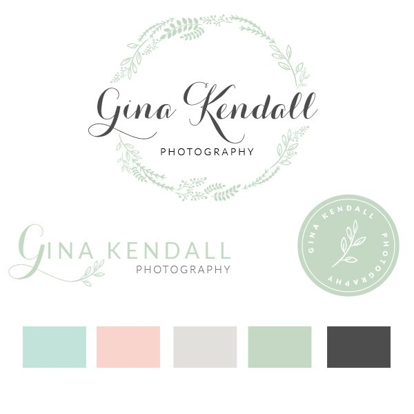 Hand drawn sketched botanical flower Logo, Photography Logo and Watermark Design, Photography or Boutique, Landscaping logo design options,