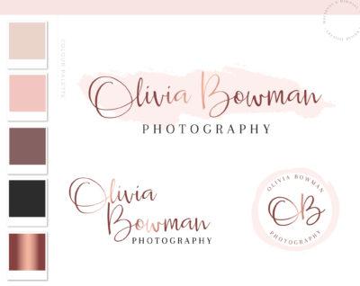 Watercolor Logo, Photography Logo, Logo Design, Premade Logo design, Business logo, Watermark, Branding Kit, Custom Logo, Business Card 62