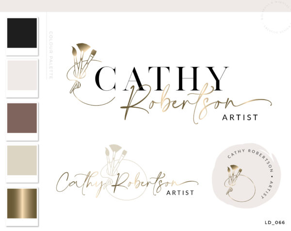 Paint brush Logo Design, Painting Logo, Art shop logo set, Art studio logo, Craft logo, Painter logo, Limner logo, Artist Logo