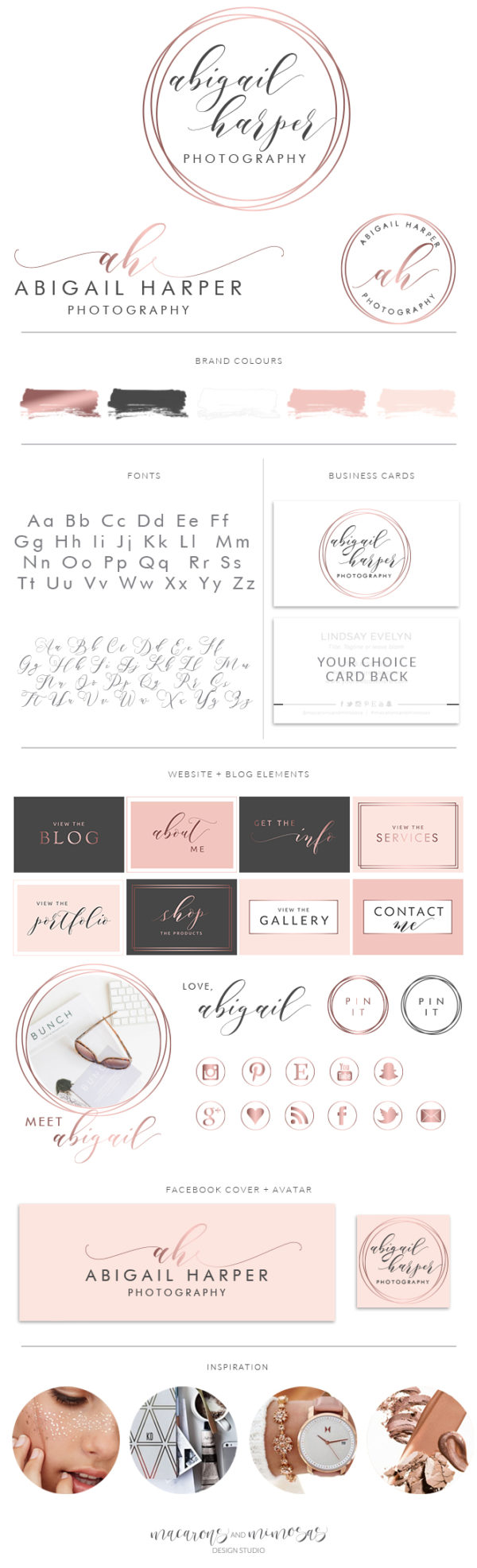 Photography Logo Kit, Photographer Branding Package, Blog Logo Design, Premade Initial Logo Design, Feminine Simple watermark Logo