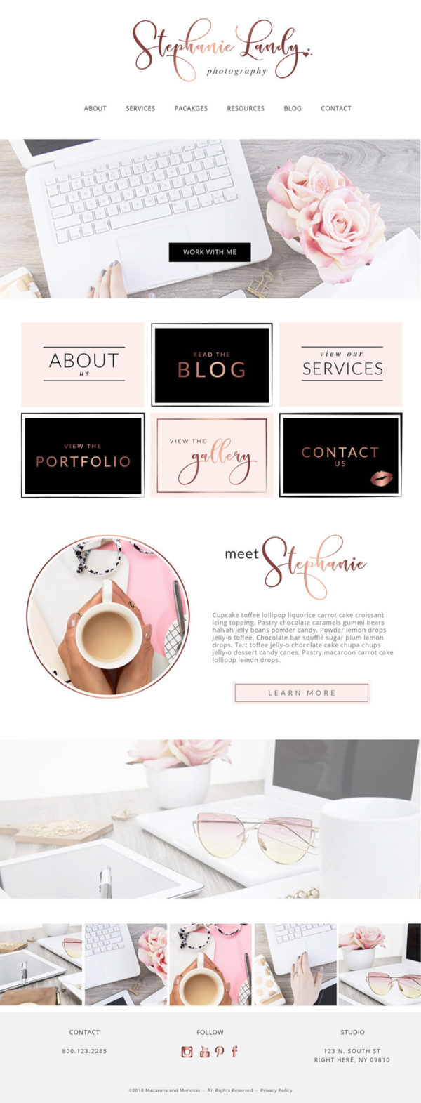 Web and Blog Template Kit, Ultimate Branding Kit, Premade website elements, Website Social Media Package