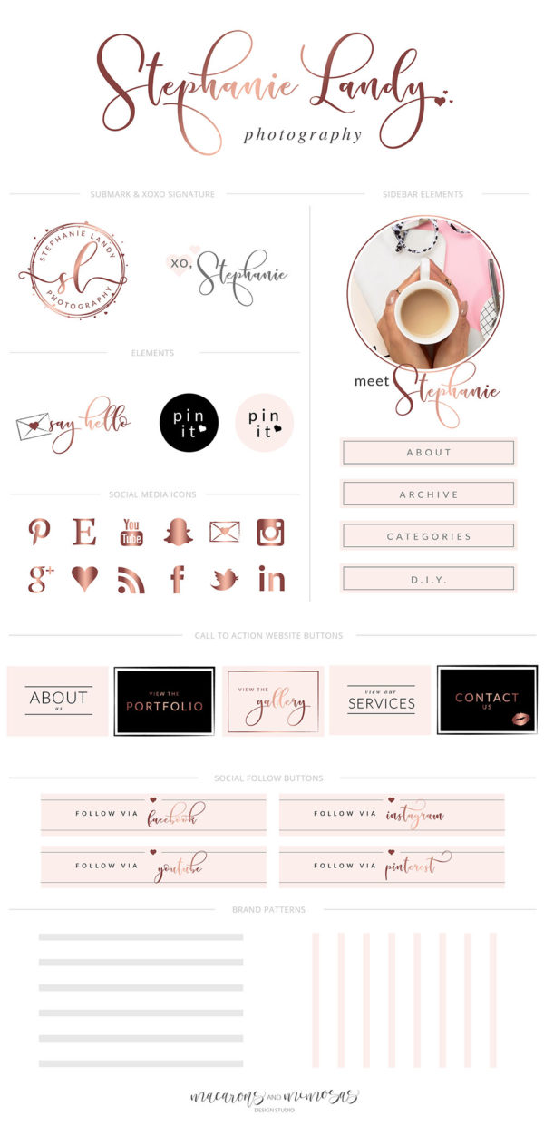 Website Blog Template Kit, Ultimate Branding Kit, Premade website elements, Website Social Media Package