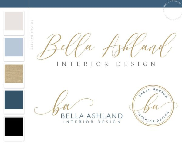 Modern signature Logo design Calligraphy Logo Gold​, ​Handwritten Logo​, ​Calligraphy and Watercolor Logo​, ​Beautiful premade logo with watermark, Calligraphy logo, Gold foil logo, Business logo,Stylish watercolor logo Elegant logo