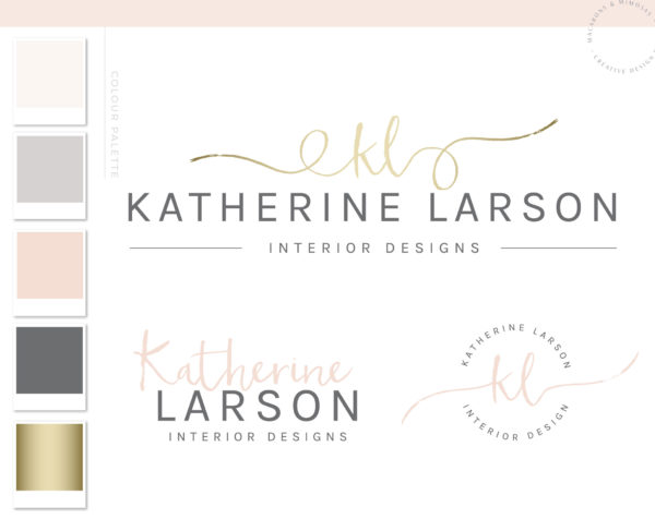 Handwritten logo, Signature logo Premage, Premade Logo Design Geometric Gold Logo initials, premade logo, premade logo watercolor, Photography Logo, Premade watercolor logo Design. Photographer Logos, Feminine logo , Logo Design, Brand Design, Business Logo, photography