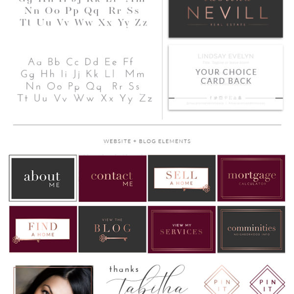 Realtor Logo design, Premade real estate logo, realtor branding package, real estate agent branding, key logo design