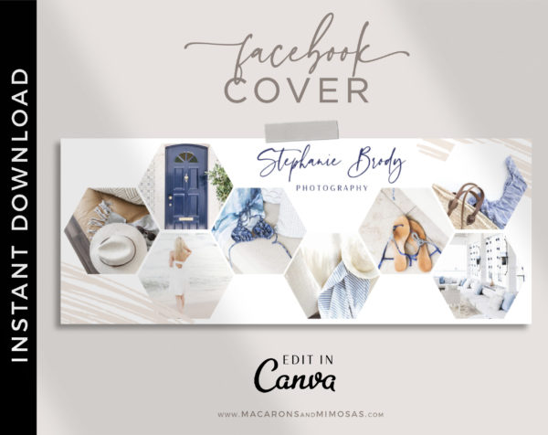 Facebook Cover Template, Facebook Banner, Facebook Timeline, Facebook Template, Photographer Facebook Cover, Photography Template, Collage