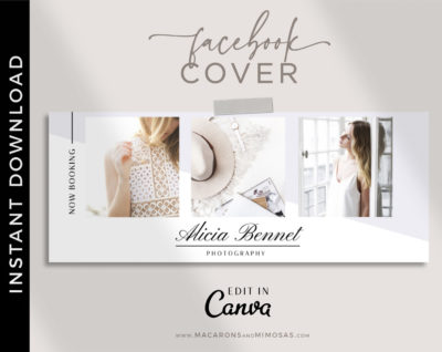 Canva Facebook Cover Template, Photography Facebook Cover Collage