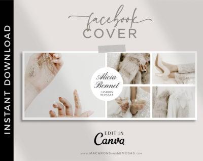 Canva Facebook Cover Template, Facebook Banner, Facebook Timeline, Facebook Template, Photographer Facebook Cover, Photography Template, Collage