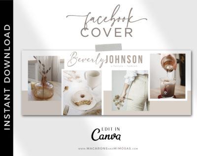 Photography Facebook Timeline College Template, Canva Blog Header Collage, Wedding Photographer Social Media Banner Cover Design