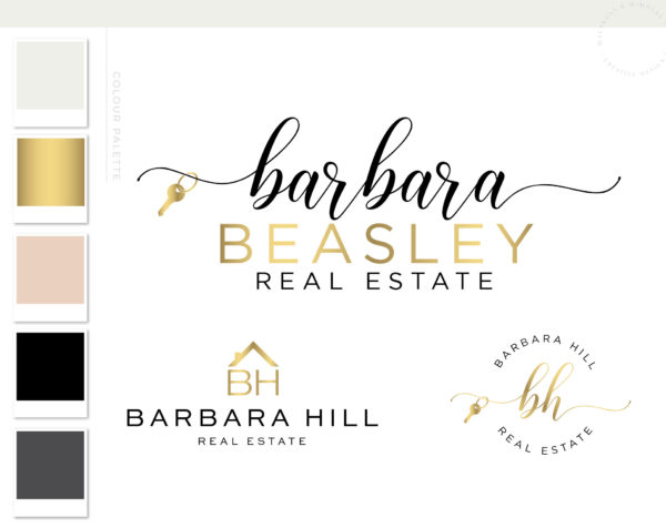Real Estate logo design, Key logo, Realtor logo, Real Estate Business Branding Marketing Materials