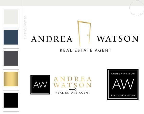 Real Estate Logo Design, Realtor Logo, Premade real estate logo, realtor branding package, real estate agent branding, key logo design