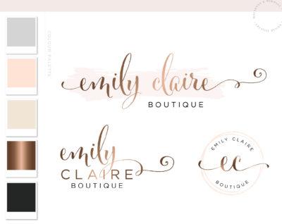 Logo Branding Kit, Mini branding kit, Logo design, Premade logo, Watermark logo, Photography Logo, Logo, Branding Package, Bronze Logo