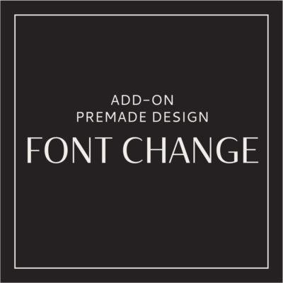 Logo Font Change, Custom Logo Design