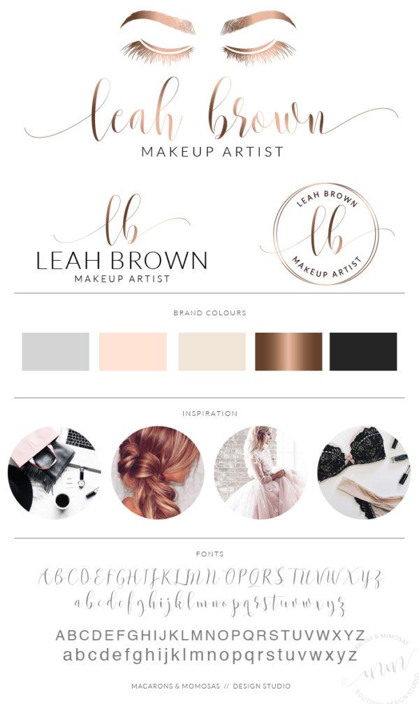 Lashes Logo, makeup artist logo, Logo Design, Rose Gold Logo,Watermark, Lash Logo, Eyelashes Logo,Beauty Logo,MUA Logo, Business Card
