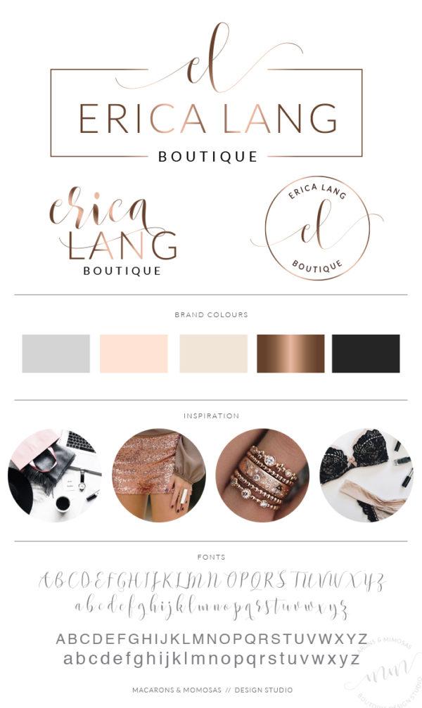 Mini branding kit, Logo Branding Kit, Logo design, Premade logo, Watermark logo, Photography Logo, Logo, Branding Package, Bronze Logo