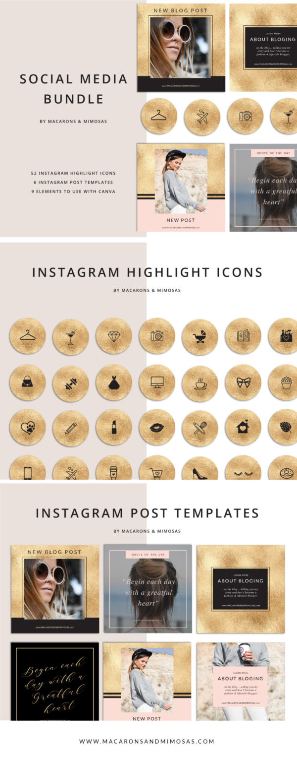 52 Gold Instagram Story Highlights Icons, Yellow Gold Instagram Story Template Bundle, Instagram Highlights, Fashion, Beauty, Lifestyle