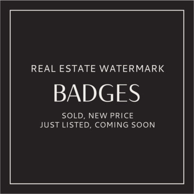 Real Estate Watermarks, Sold, New Price, Just Listed Coming Soon Button Overlays