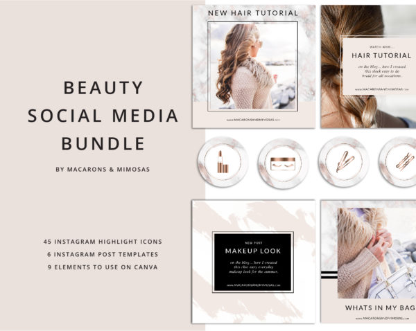 45 Beauty Instagram Story Highlights Icons, Rose Gold Marble Instagram Story Template Bundle, Instagram Highlights, Fashion, Beauty, Lifestyle, Makeup icons, Makeup Instagram blogger, Beauty Blogger Icons
