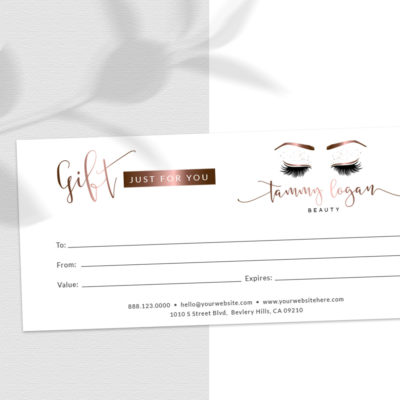 Custom Zazzle Gift Certificates by Macarons and Mimosas