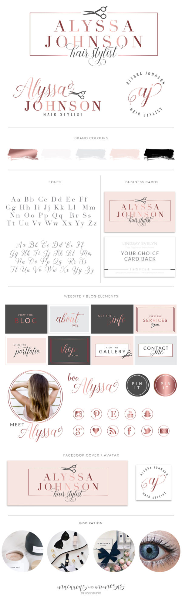 Salon Branding, Hair Logo, Branding kit, Scissors Logo, Logo Design, Premade Logo, Branding Package, Stamp, Salon Logo, Beauty Logo