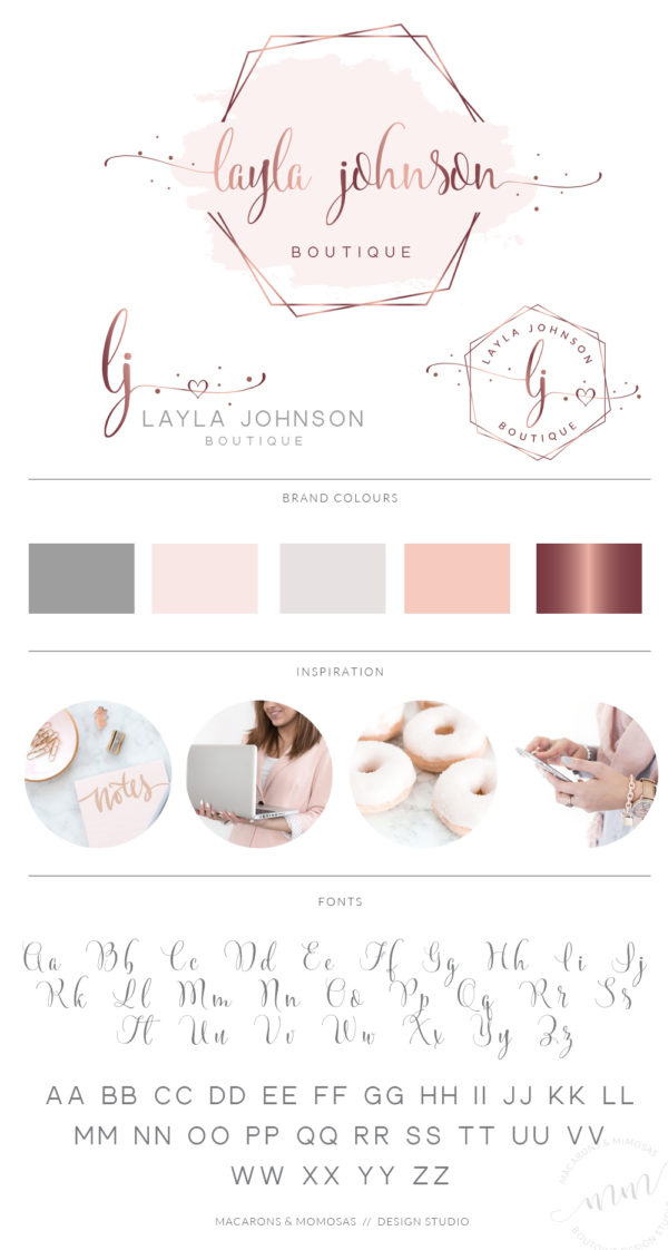 Watercolor Logo Design, Rose gold Branding kit, Photography logo, Watermark, Premade Branding Package, Custom Logo Design, Branding kit