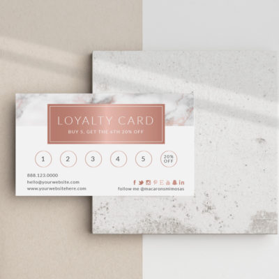 Custom Loyalty Business Card