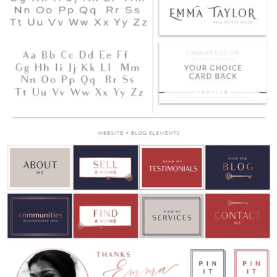 Realtor Logo design, Premade real estate logo, realtor branding package, real estate agent