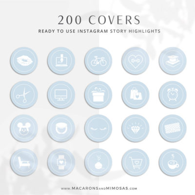 200 Baby Blue Instagram Highlight Cover Icons, Beauty Instatgram Covers, Instagram Story Covers