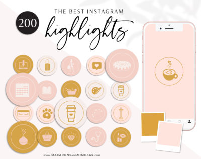 Boho Instagram Highlight Covers, Bohemian Instagram Highlights, Boho Story Highlight Icons for Social Media