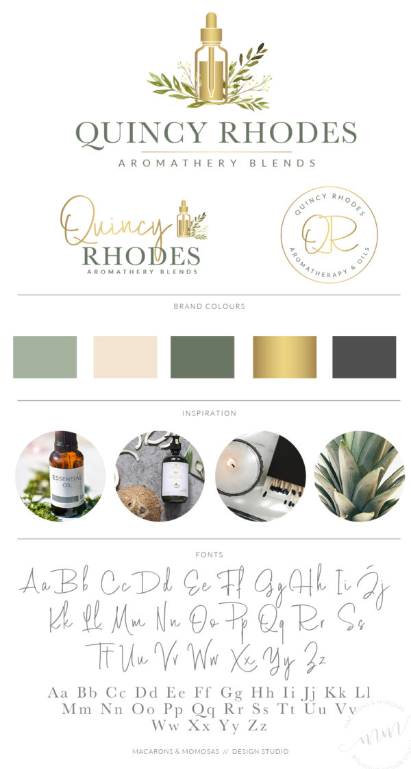 Essential Oil Logo design for DoTerra Scentsy bottle by Macarons and Mimosas