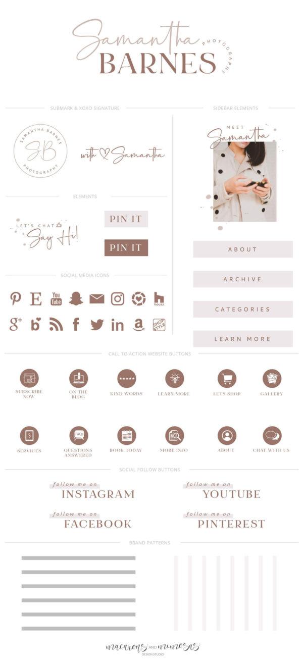Blog Graphics Kit, Website Blog Template Kit, Ultimate Branding Kit, Premade website graphics, Website Social Media Package