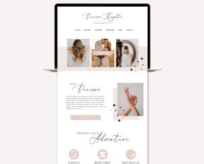 Blog Design Kit, Website Blog Template Kit, Ultimate Branding Kit, Premade website elements, Website Social Media Package