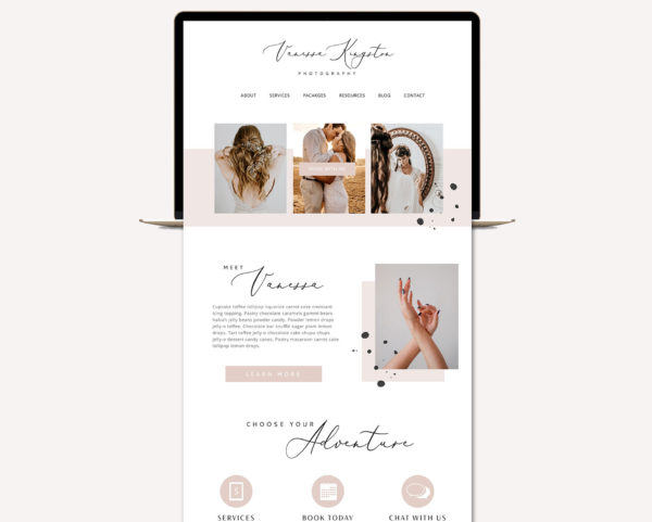 Blog Design Kit, Website Blog Template Kit, Ultimate Branding Kit, Premade website elements, Website Social Media Package