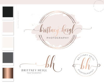 Logos & Branding package Branding kit Logo design Photography Logo Rose gold Logo - Logo package Photo Watermark Real estate logo