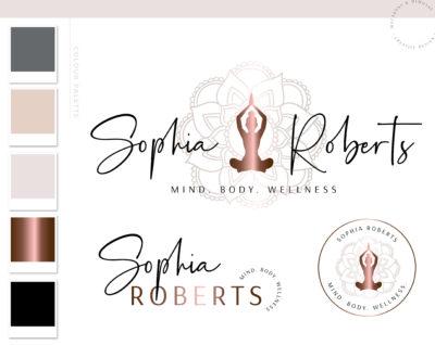 Mental Wellness Branding Logo Design Kit, Yoga Fitness Custom Logo Design, Business Brand Logo, Creative Logo, Modern Logo Creation