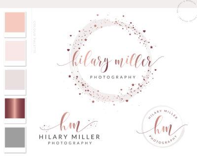 Heart Star Logo Design, Custom Business Brand Logo, Elegant Signature Logo, Creative Logo, Branding Logo Creation, Modern Circle Watermark
