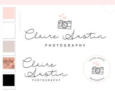 Camera Logos & Branding package, Photography Branding Kit Logo design, Premade Logo Photo Watermark Custom Graphic