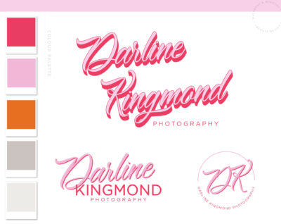 Retro Logo Design Package, 70s Vintage Bohemian Organic Logo & Branding Watermark, Modern Boho Minimalist Logo Branding Kit