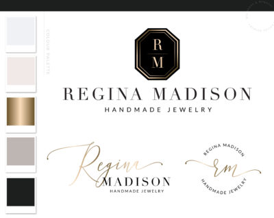 Diamond Jewelry Logo, Jewel Logo Design, Boutique Branding kit, Luxury Handmade Branding Package Watermark, Custom and Small Business Logo